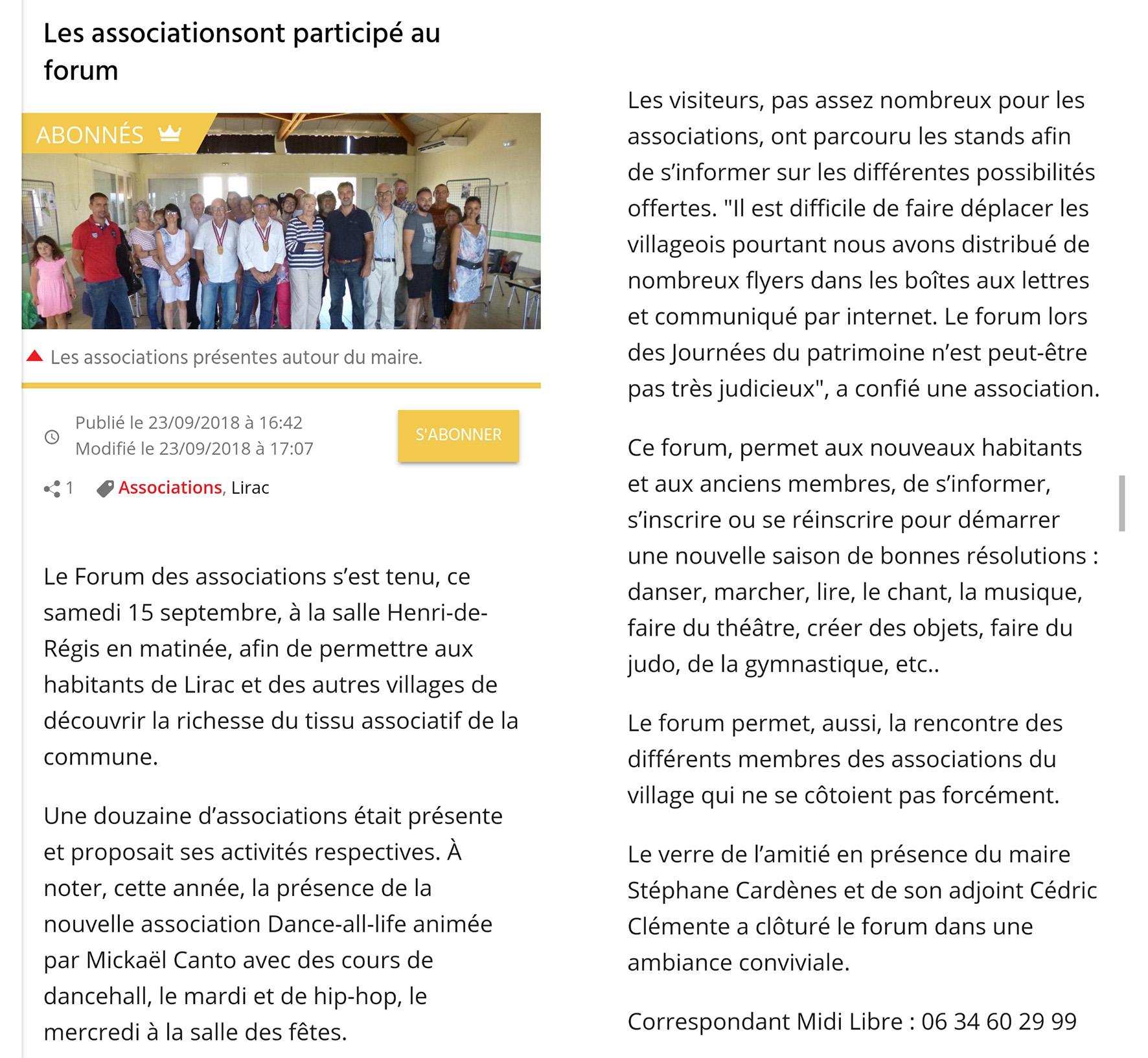 Midi Libre 28/09/2018