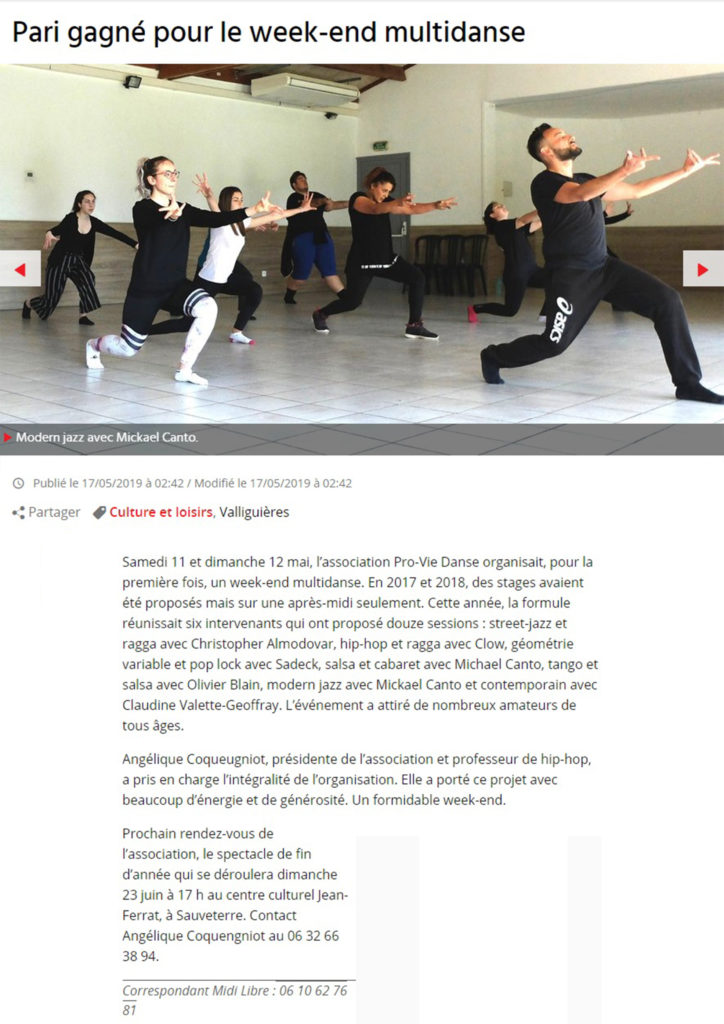 Stage multidanse Valliguieres dance-all-life